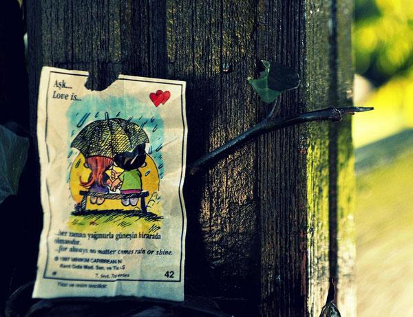 Aşk... her zaman yağmurla güneşin birarada olmasıdır.